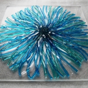 turquoise fused glass